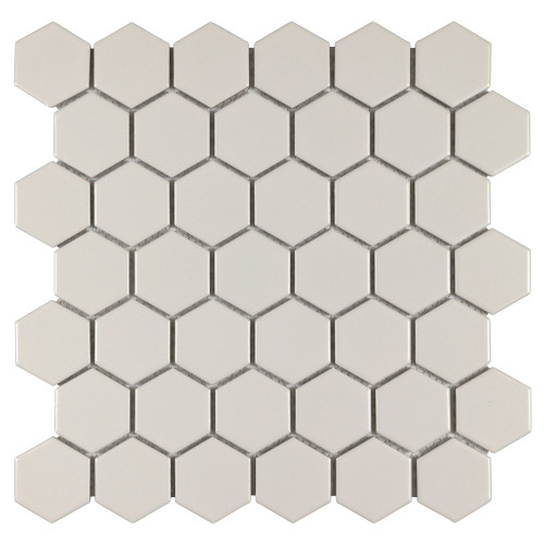 "Porcelart Pearl Matte 2"" Hex Mosaic (SF210002)"