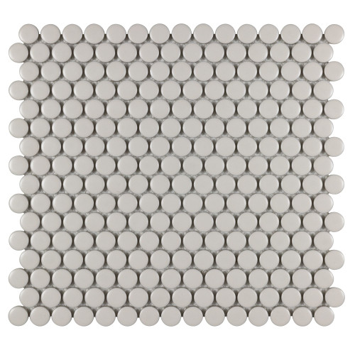 Porcelart Pearl Matte 3/4 in. Penny Round Mosaic (SF210005)