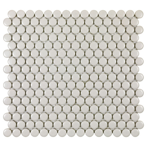 Porcelart Taupe Matte 3/4 in. Penny Round Mosaic (SF200084)