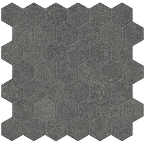 Mjork Carbon Matte Porcelain 2 in. Hex Mosaic (4501-0382-0)