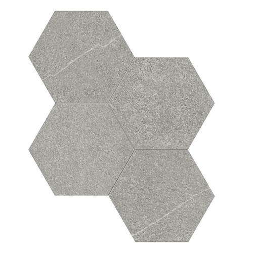 Mjork Clay Matte Porcelain 6 in. Hex Mosaic (4501-0377-0)