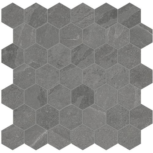 Nord Chromium Matte Porcelain 2 in. Hex Mosaic (4501-0393-0)