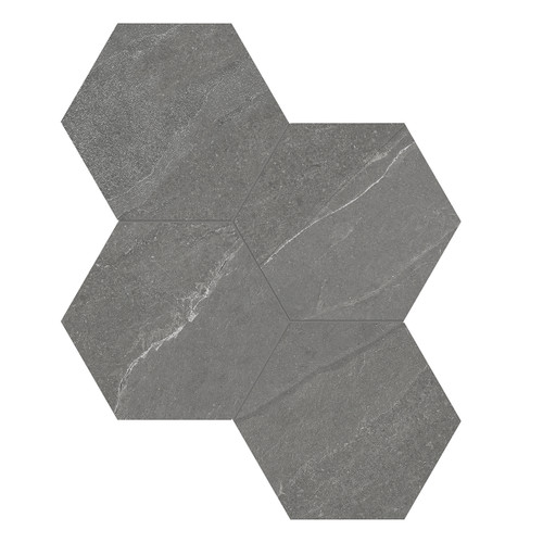 Nord Chromium Matte Porcelain 6 in. Hex Mosaic (4501-0389-0)