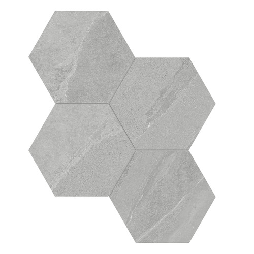 Nord Lithium Matte Porcelain 6 in. Hex Mosaic (4501-0387-0)