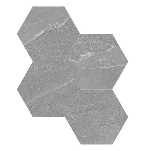 Nord Palladium Matte Porcelain 6 in. Hex Mosaic (4501-0388-0)