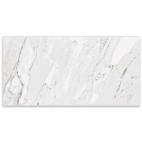 Marbles Carrara White Polished Porcelain 12x24 (1102343)