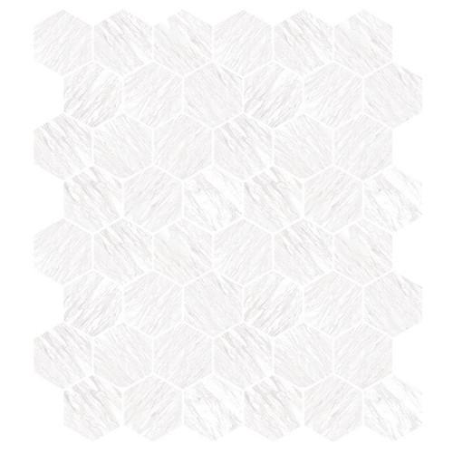 Marbles Volakas Silk Matte Hexagon Mosaic on 9x11 Sheet (1102369)