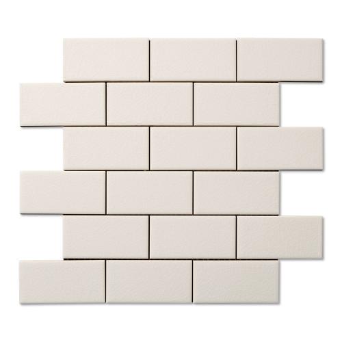 Hampton White Flat Mosaic 2X4 (ADXADHWH824)
