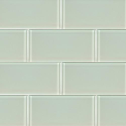 Arctic Ice Glass Mosaic 3x6 on 12x12 Sheet (SMOT-GL-T-AI36)