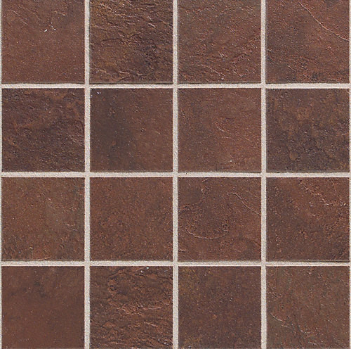 Continental Slate - Indian Red 3x3 Mosaic