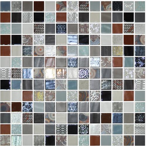Glass Onix Cosmic Elba 1x1 Mosaic Blend