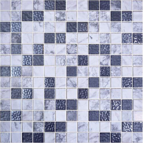 Glass Onix Cosmic Livorno 1x1 Mosaic Blend