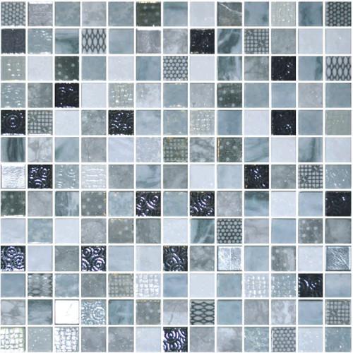 Glass Onix Cosmic Lucca 1x1 Mosaic Blend