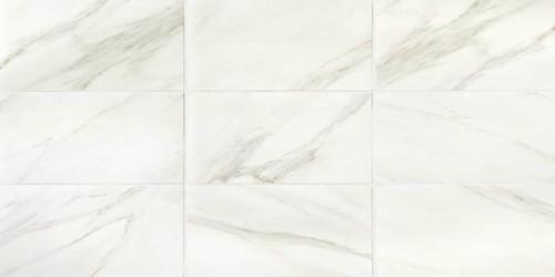 Mirasol Bianco Carrara Matte Floor Tile 12x24 Tiles