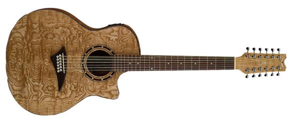 Dean Exotica Quilt Ash A/E 12 String - GN