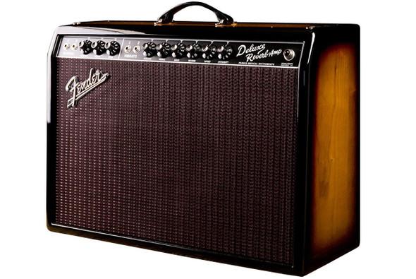 Fender '65 Deluxe Reverb Limited Edition 3-Tone Ash Sunburst Celestion Gold Speaker