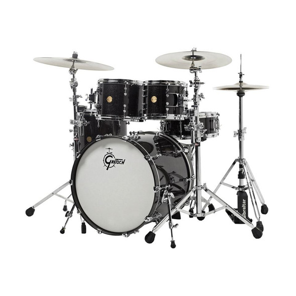 Gretsch NC-E824-BSL New Classic Nitron 4 Piece Shell Pack - Black Sparkle