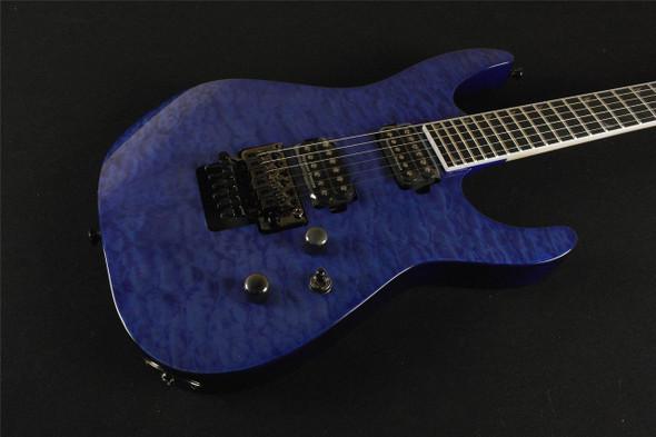 Jackson Pro Series Soloist� SL2Q MAH Ebony Fingerboard Trans Blue