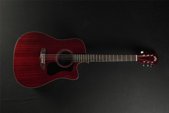 Guild D-125CE Mahogany Cutaway Electric Dreadnought Cherry Red with Case (277)