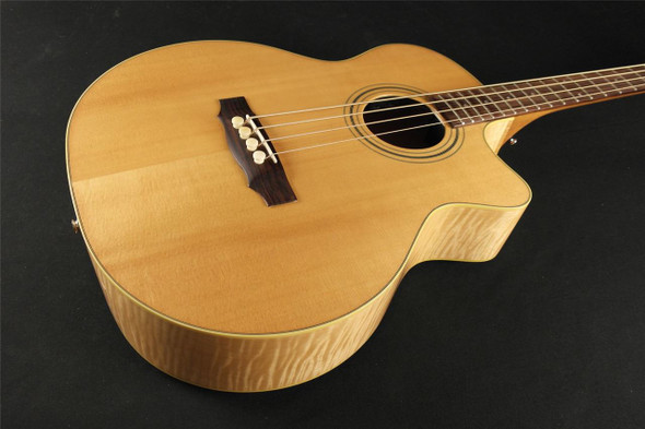 Guild Standard Series Acoustic Bass B-54CE Standard, Sitka Spruce/Maple Jumbo Cutaway Electric Bass, Fishman Matrix Infinity, Blonde, with Deluxe Case