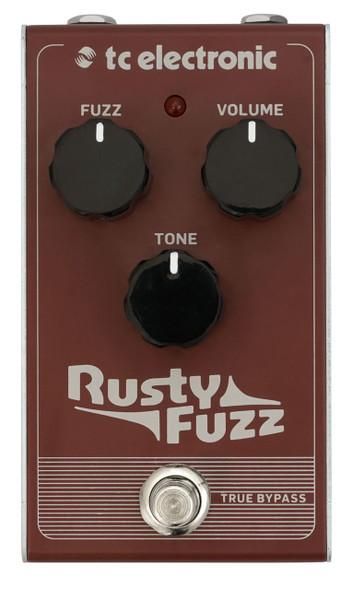 TC Electronics RUSTY FUZZ Silicon-Based Transistor Fuzz with Vintage Gated and Velcro-Like Fuzz Tones