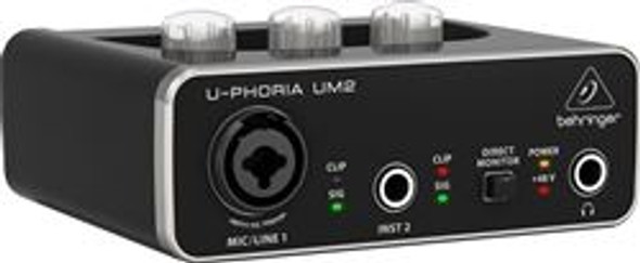 Behringer 2x2 USB Audio Interface with XENYX Mic Preamplifier