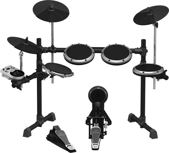 Behringer 8-Piece Electronic Drum Set with 110 Sounds, 15 Drum Sets and USB Interface