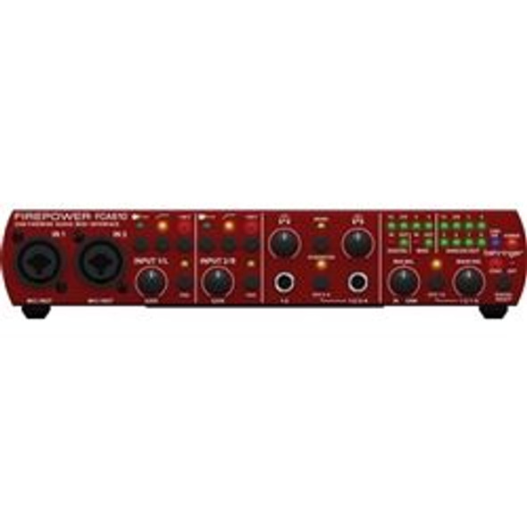 Behringer 6 In/10 Out, 24-Bit/96 kHz FireWire/USB Audio/MIDI Interface with MIDAS Preamplifiers