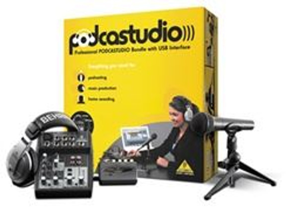 Behringer Complete PODCASTUDIO Bundle with USB/Audio Interface