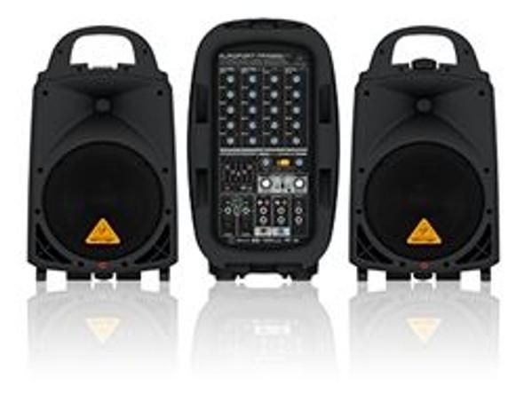 Behringer 500-Watt 6-Channel Portable PA System with Bluetooth Wireless Technology, Wireless Microphone Option, KLARK TEKNIK Multi-FX Processor and FBQ