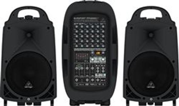 Behringer 2000-Watt 8-Channel Portable PA System with Bluetooth, Wireless Microphone Option, KLARK TEKNIK Multi-FX Processor and FBQ
