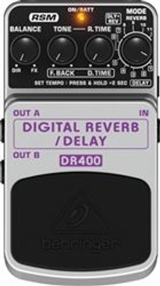 Behringer Digital Stereo Reverb/Delay Effects Pedal
