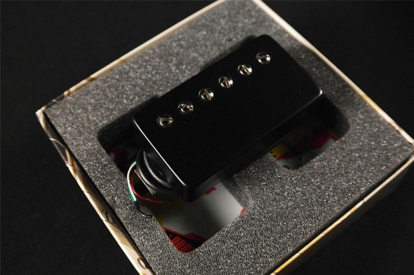 Bare Knuckle Black Dog Humbucker 6 String Bridge & Neck Standard Spacing 4 Conductor Short Leg Black