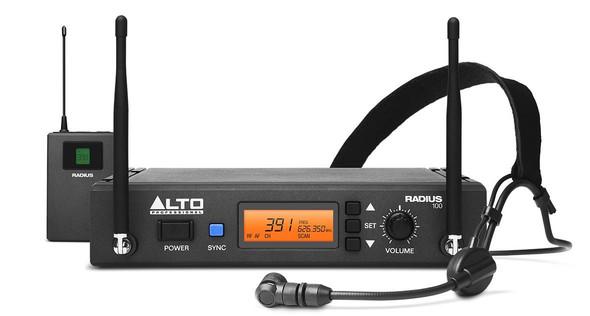 Alto Radius100H Professional UHF Diversity Wireless Headset Microphone System -RADIUS100HXUS