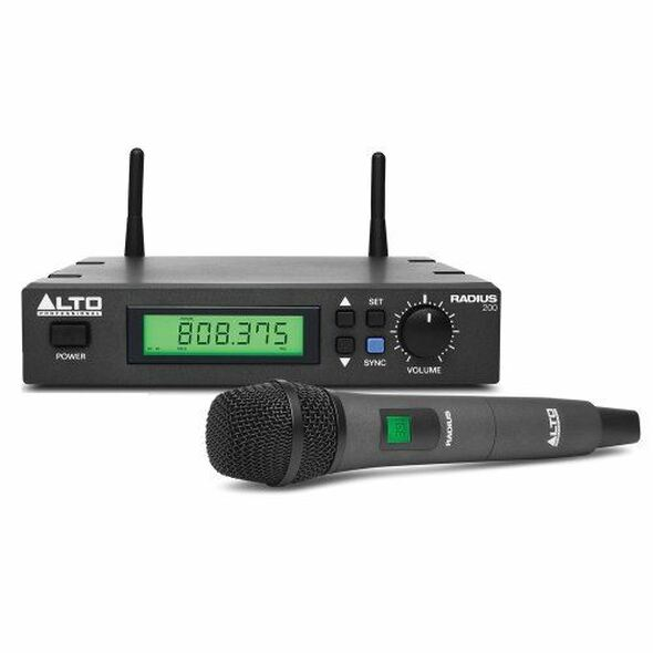 Alto RADIUS200XUS Radius 200 Professional UHF True Diversity Wireless Microphone System -RADIUS200XUS