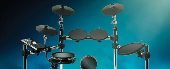 Alesis Command Kit  Eight-Piece Drum Kit with Mesh Snare and Mesh Kick -COMMANDKITXUS