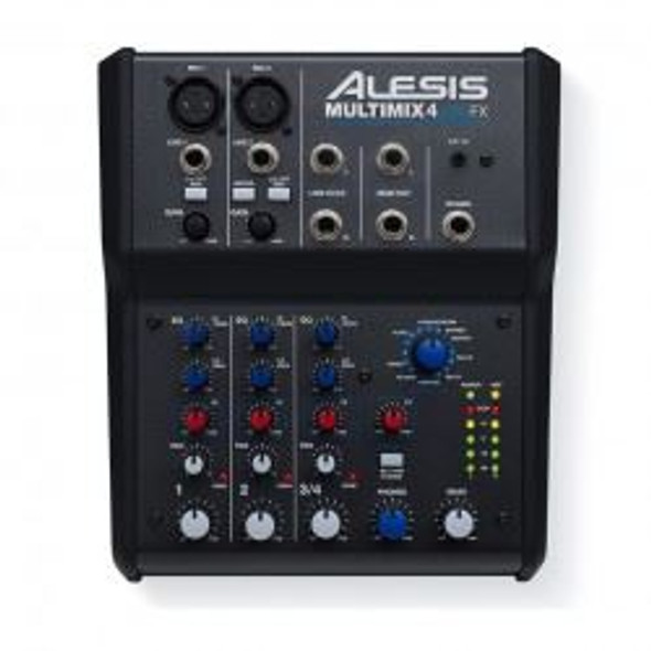 Alesis MultiMix 4 USB FX 4-Channel Mixer with Effects Plus USB Audio Interface -MULTIMIX4USBFXXUS