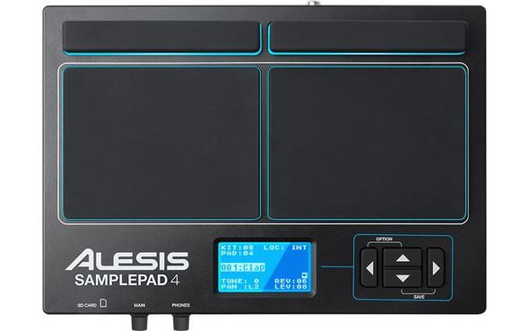 Alesis SamplePad 4 4-Pad Percussion and Sample-Triggering Instrument -SAMPLEPAD4XUS