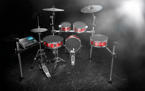 Alesis Strike Kit Eight-Piece Professional Electronic Drum Kit with Mesh Heads -STRIKEKITXUS