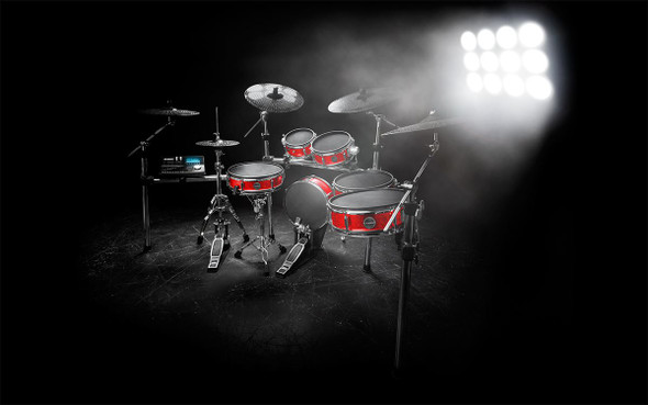 Alesis Strike Pro Kit Eleven-Piece Professional Electronic Drum Kit with Mesh Heads -STRIKEPROKITXUS
