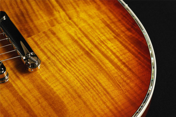 ESP/LTD EC-1000FM Electric Guitar (Amber Sunburst)  - LEC1000ASB (681)