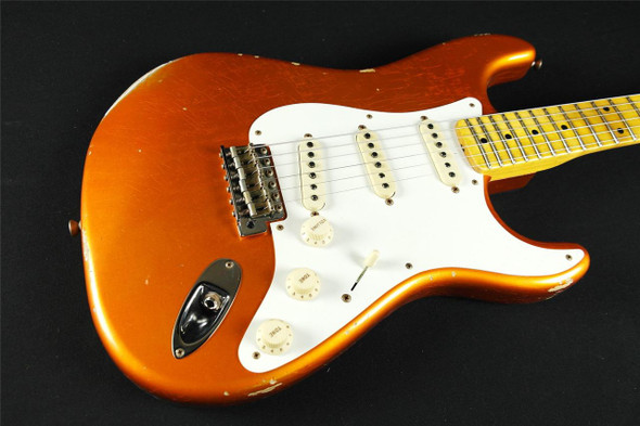 Fender Custom Shop 2017 LIMITED NAMM Dual Mag Stratocaster Relic – Faded Candy Tangerine (858)