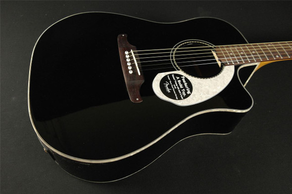 Fender Sonoran SCE- Black with Matching Headstock (750)