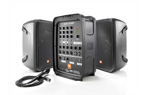 JBL EON208P Portable 8 2-Way PA with 8-Channel Powered Mixer and Bluetooth