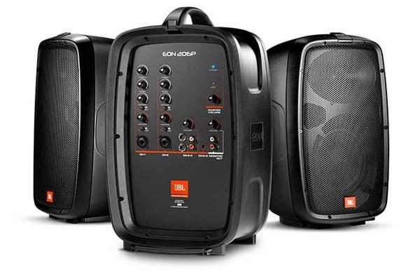 """JBL EON206P Packaged PA System- 160 Watt powered mixer; 6-channel mixer & 2 x 6.5"""""""
