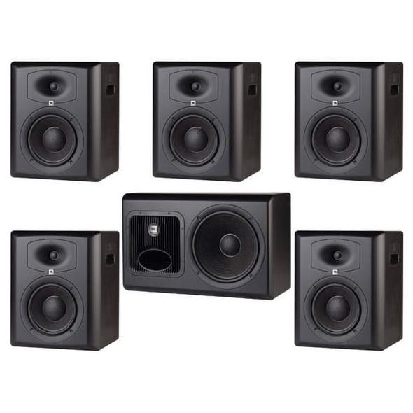 JBL LSR6328P/5.1 5.1 Surround System w/ LSR6328P 5pcs & 1pc LSR6312SP & RMC Calibration Kit