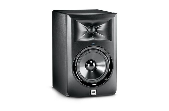 JBL LSR305 5-inch two-way powered studio monitor.