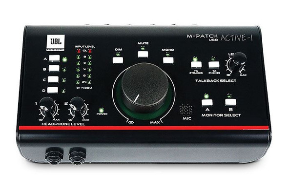 JBL MPATCH ACTIVE-1 M-Patch Active-1 Precision Monitor Control, Studio Talkback with USB Audio I/O