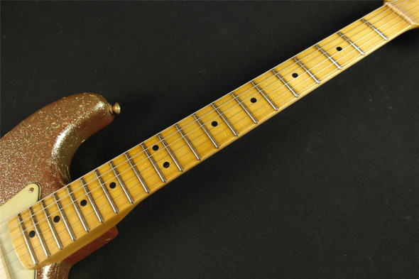 Fender Custom Shop '65 Stratocaster Journeyman Relic Gold Sparkle over Dakota Red - Masterbuilt by John Cruz