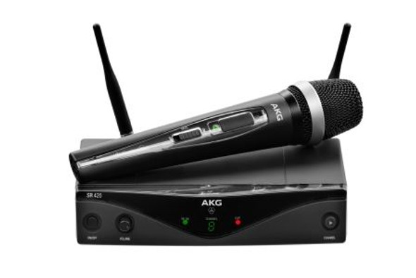 AKG WMS420 VOCAL (U2) Wireless microphone system - includes: 1 x SR 420 stationary receiver,  1 x HT 420 handheld transmitter.  Frq: 614.100 - 629.900MHz